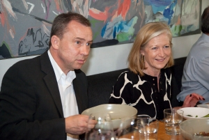 (left to right) Dr Arpad A. Sölter,  Director of the Goethe-Institut Australien and Ms Josephine Ridge, Artistic Director of the Melbourne Festival.