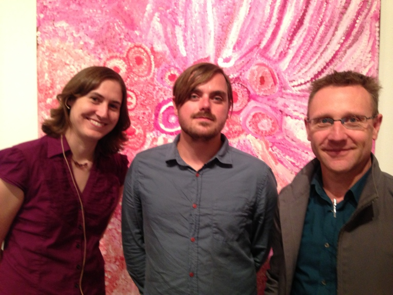 Sounds Like Deep Space...(left to right) Dr Katie Mack, Abel Korinsky and Lawrence Harvey