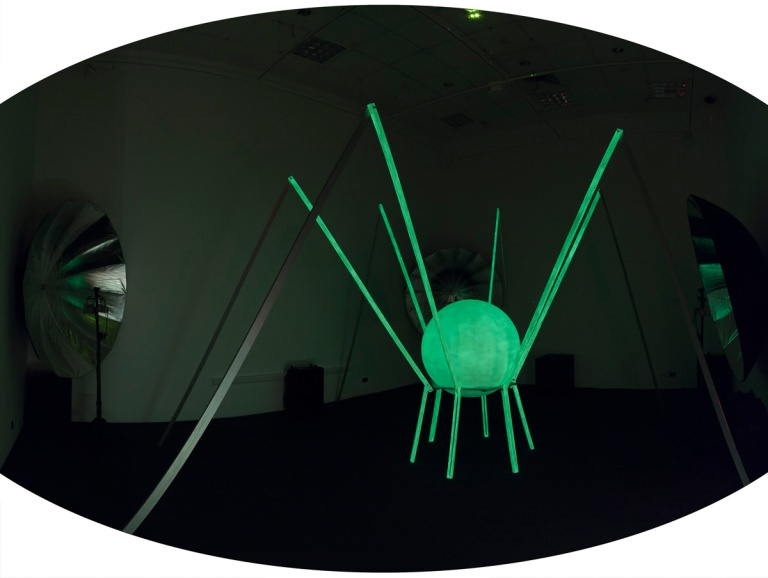 Korinsky Collective: RL2000 2014 sound and mixed media installation dimenions variable. Photo Mark Ashkanasy, RMIT Gallery, 2014