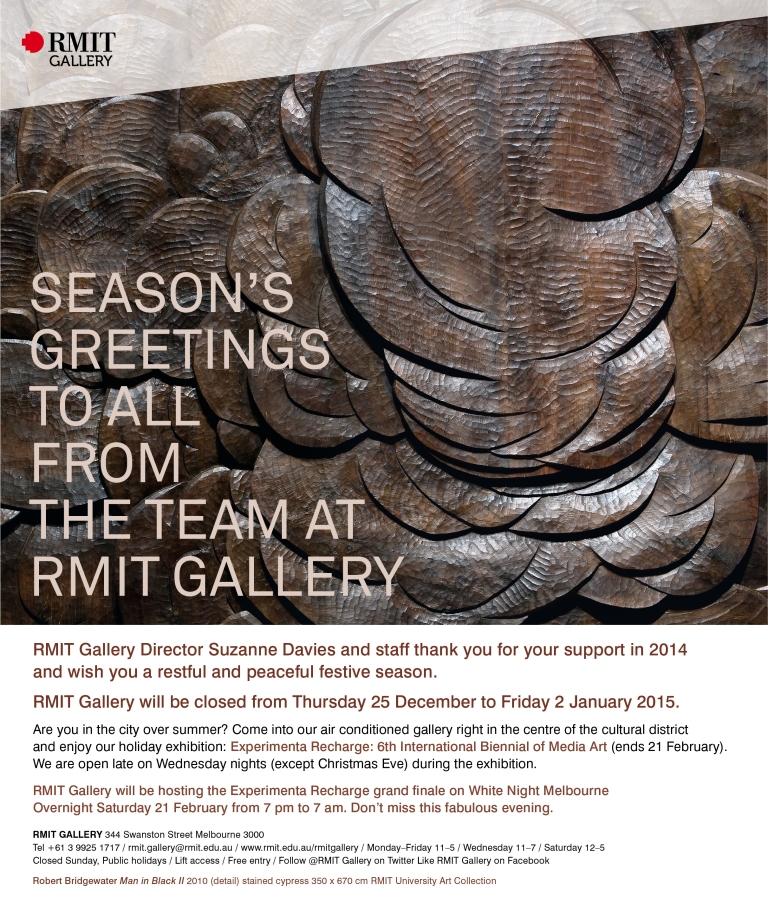RMITGallery2014SeasonsGreetings