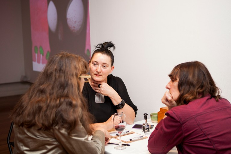 LEISA SHELTON, (centre) meets with audiences in this participatory project at Experimenta Recharge