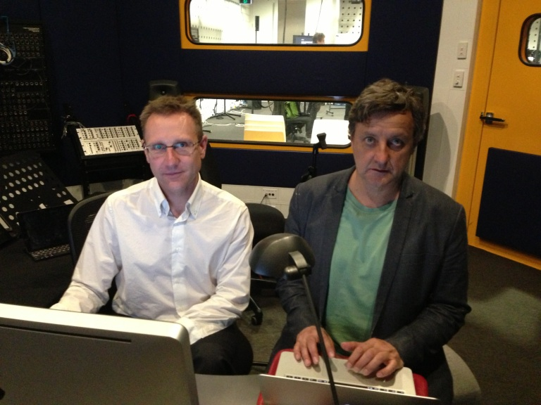 left to right: Lawrence Harvey, RMIT and Daryl Buckley, ELISION Ensemble