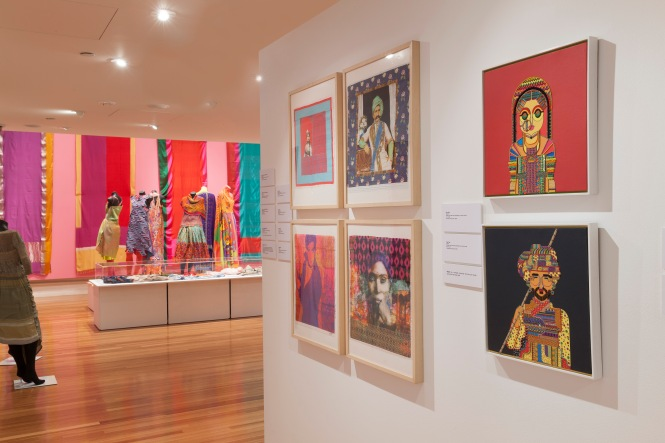 RMIT Gallery Unfolding: New Indian Textiles, RMIT Gallery, 20 MAR 2015 - 30 MAY 2015 - photo by Mark Ashkanasy.