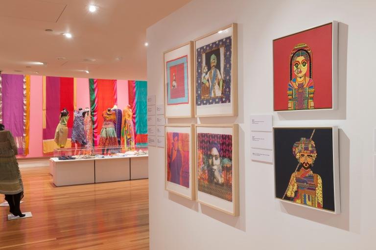 RMIT Gallery Unfolding: New Indian Textiles, RMIT Gallery, 20 MAR 2015 - 30 MAY 2015 - photo by Mark Ashkanasy.