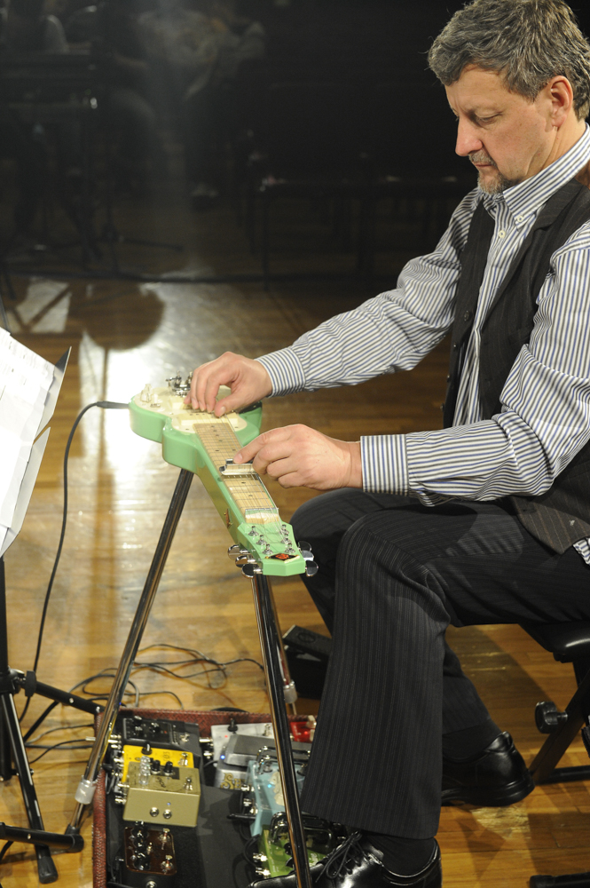 Daryl Buckley, electric lap steel guitar, ELISION Ensemble