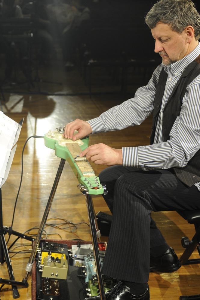 Daryl Buckley, electric lap steel guitar, ELISION Ensemble