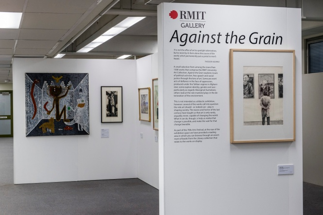 Against The Grain, RMIT Gallery pop up exhibition. Photo: Margund Sallowsky, 2015.