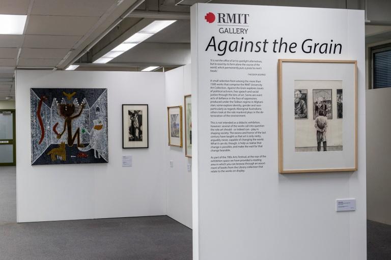 Against The Grain, RMIT Gallery pop up exhibition. Photo: Margund Sallowsky, 2015.