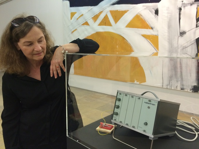Mathilde Weh with the Robotron, at the Geniale Dilletanten exhibition, Haus der Kunst, Munich. Photo: Evelyn Tsitas
