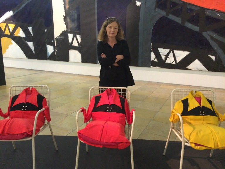 Mathilde Weh, with group of Armchairs Dress (three part), Die Todliche Doris, Geniale Dilletanten exhibition, Haus der Kunst, Munich. Photo: Evelyn Tsitas