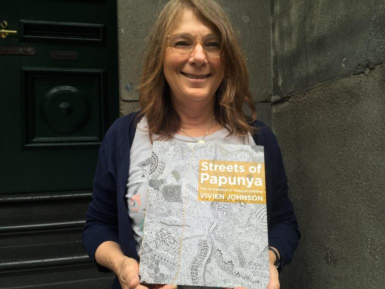 Indigenous art expert Vivien Johnson, and her new book Streets of Papunya.