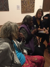 Streets of Papunya: the exhibition at RMIT Gallery featuring work from Aboriginal artists from central Australia is a critical and popular success with audiences keen to hear more from the visiting artists