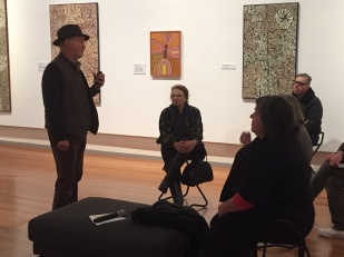 Streets of Papunya: audiences flocked to RMIT Gallery to see the art from central Australia, and hear from the visiting artists, speakers and curators about the work.