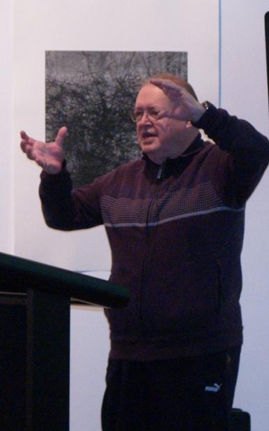 Richard Toop speaking at RMIT Gallery in 2011