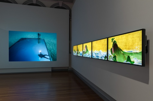 Ocean Imaginaries RMIT Gallery, City campus 05 May 2017-01 Jul 2017 Ocean Imaginaries focuses on some of the contradictions and conflicted feelings raised by how the ocean is imagined in an age of environmental risk. Part of CLIMARTE's ART+CLIMATE=CHANGE 2017 - a festival of exhibitions and events harnessing the creative power of the Arts to inform, engage and inspire action on climate change. Curator Linda Williams. Artists including Anne Bevan, Emma Critchley and John Roach, Alejandro Durán, Simon Finn, Stephen Haley, Lynne Roberts-Goodwin, Chris Jordan, Sam Leach, Janet Laurence, Mariele Neudecker, Joel Rea, Dominic Redfern, Debbie Symons, Jason deCaires Taylor, teamLAB, Guido van der Werve, Chris Wainwright, Lynette Wallworth and Josh Wodak.