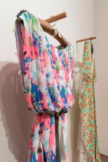 """Georgi McCorkill, Fold, Floral dress 1"""" knife, 2017"""